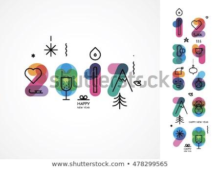Boom glas kleur natuur symbool Stockfoto © mOleks