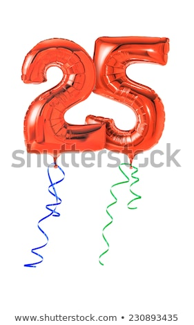 Red balloons with ribbon - Number 25 Stock photo © Zerbor