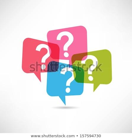 glazig · knop · vraagteken · internet · web · helpen - stockfoto © mr_vector