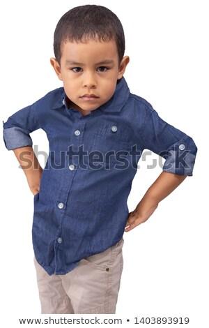 мало · мальчика · портрет · серьезный · Kid - Сток-фото © Dave_pot