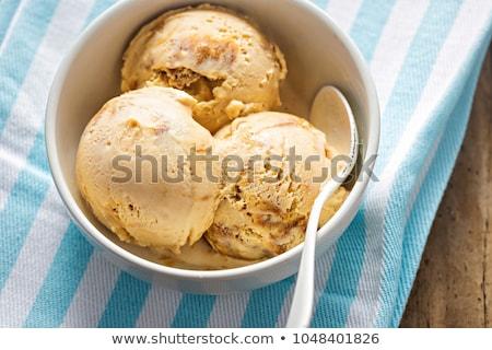 Melting toffee ice cream Stock photo © raphotos