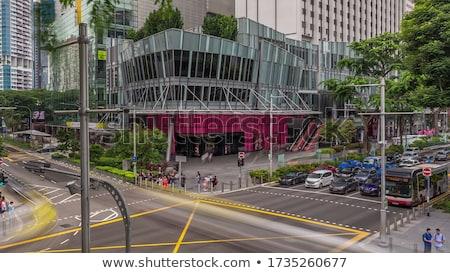 Urban road, Singapore Stock photo © joyr