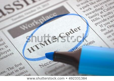 Java jornal trabalho trabalhar software Foto stock © tashatuvango