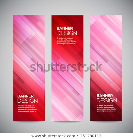 Colorful blue and red light abstract geometric low poly style vector illustration graphic background Stock photo © mcherevan