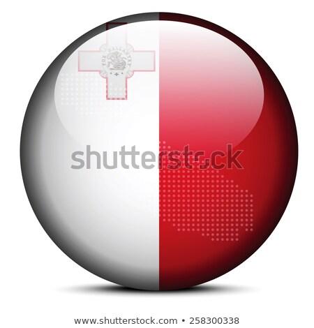 botón · Malta · mapa · bandera · euros · Europa - foto stock © istanbul2009