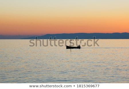 сумерки захватывающий закат южный Греция пейзаж Сток-фото © akarelias