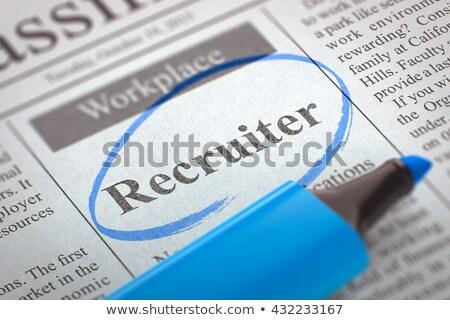 HR Consultant Vacancy in Newspaper. Stock photo © tashatuvango