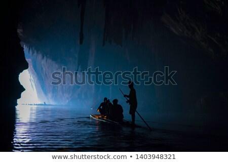 Bejárat barlang egy oldal park fiú Stock fotó © Yongkiet