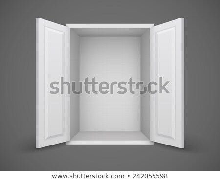 empty box with open doors nothing inside stock photo © loopall