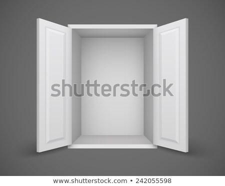 Boş kutu açmak kapılar hiçbir şey içinde Stok fotoğraf © LoopAll