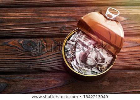 Cem dólar projeto de lei abrir vazio peixe Foto stock © stevanovicigor