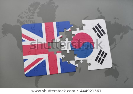 England and South Korea Flags in puzzle  Stock photo © Istanbul2009