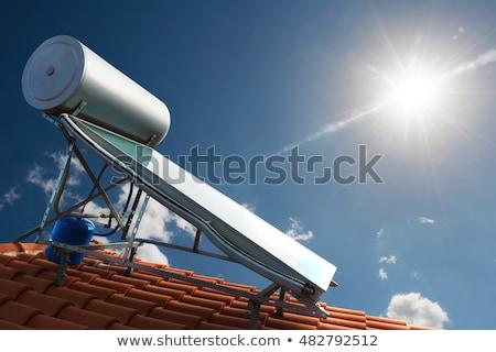 太陽 · 水 · 加熱 · 紫色 · コレクタ · ホット - ストックフォト © hanusst
