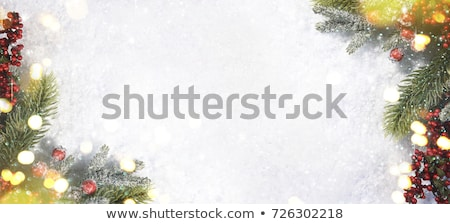 Branco verde natal cristal flocos de neve estrelas Foto stock © marinini