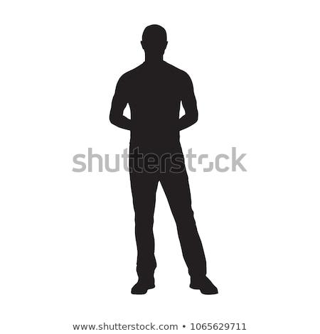 ビジネスマン 立って 手 ヒップ 白 男 ストックフォト © wavebreak_media