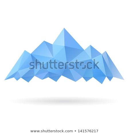 Icebergue ícone branco vetor montanha logotipo Foto stock © mcherevan