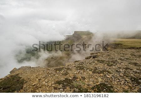 Montanha planalto chuva nuvens grama natureza Foto stock © All32