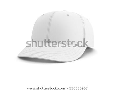 Baseballsapka fehér izolált 3D kép sport Stock fotó © ISerg
