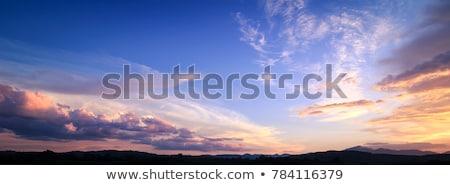 dramatik · gökyüzü · bulutlar · soyut · manzara · uzay - stok fotoğraf © inoj