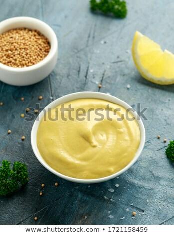 Köteg organikus citromsárga mustár Stock fotó © ziprashantzi