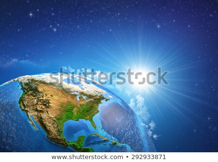 Ocean · pianeta · terra · blu · isolato · nero - foto d'archivio © harlekino