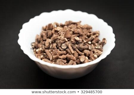 organic ganthoda in ceramic bowl stock photo © ziprashantzi