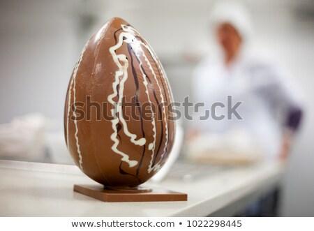 伝統的な · イースター · ケーキ · 描いた · 卵 · 光 - ストックフォト © jordanrusev