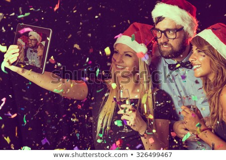 vecteur · simple · happy · new · year · carte · 2016 · grunge - photo stock © cienpies