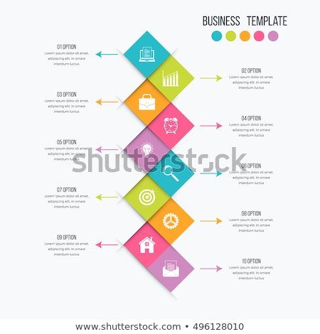 geometric infographic template Stock photo © unkreatives