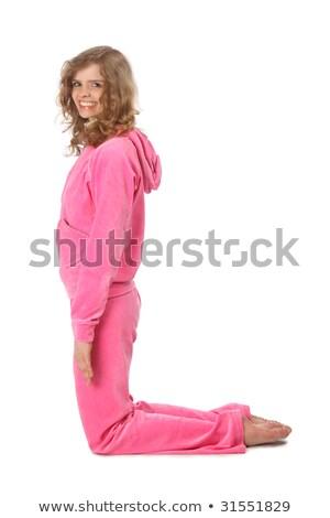 bc88b670a Menina · rosa · roupa · letra · l · esportes · escolas - foto stock ...