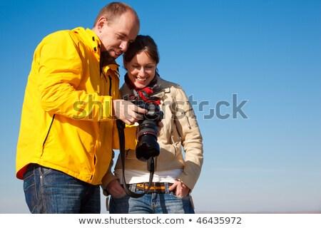 カメラマン · カメラ · ショット · 少女 · ペア · 秋 - ストックフォト © Paha_L