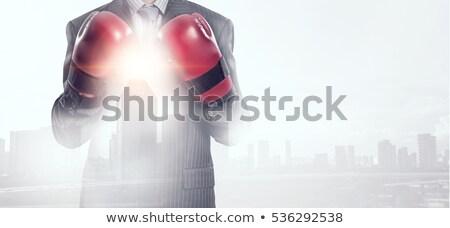 ビジネスマン · ボクシンググローブ · ビジネス · 実例 · 孤立した · 手 - ストックフォト © texelart