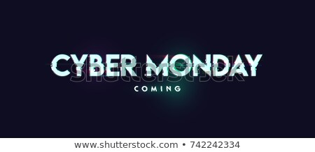 edd47d1c12 a black background with text for cyber monday vector illustration ...