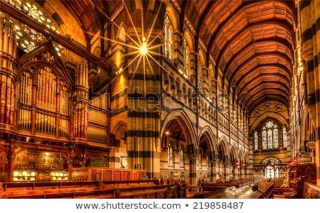 Catedral Melbourne Australia soleado verano día Foto stock © dirkr