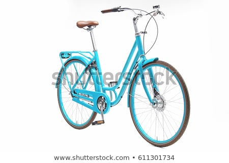 Retro styled bicycle isolated on a white Stock photo © vlad_star