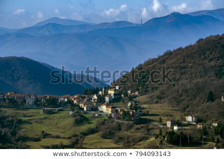 村 · 谷 · 空 · 自然 · 山 · 旅行 - ストックフォト © antonio-s