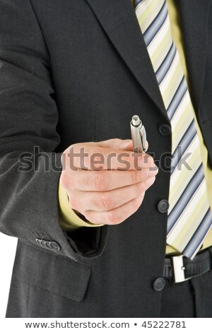 business man giving you the pen stock photo © scornejor