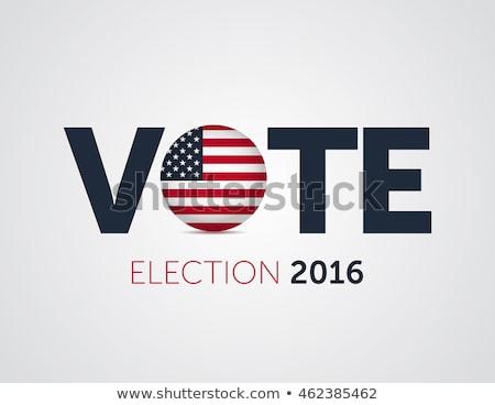 election 2016 graphics stock photo © mikemcd
