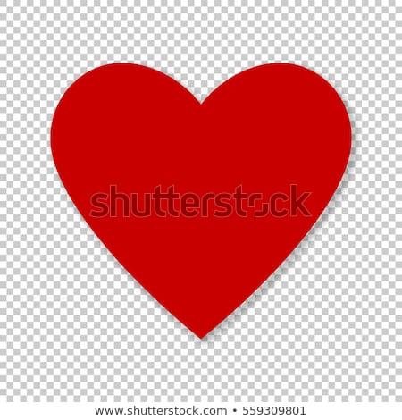 coração · rosas · branco · rosa · folha · vermelho - foto stock © beholdereye