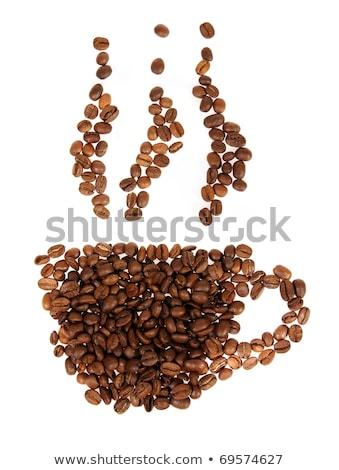 Кубок бобов белый продовольствие кофе Сток-фото © watsonimages