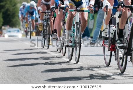 Racing fiets detail studio foto voertuig Stockfoto © filipw