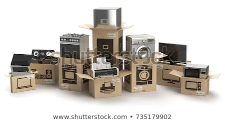 Sprzedaży gospodarstwo domowe urządzenia laptop elektronicznej urządzenie Zdjęcia stock © robuart