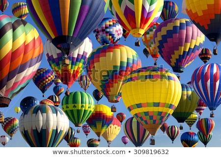 Mozog hőlégballon kék ég égbolt kék jókedv Stock fotó © meinzahn