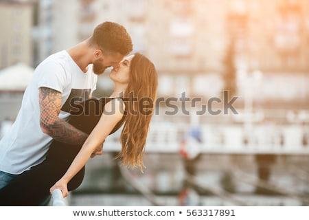 Mutlu şehir güzel genç kadın Stok fotoğraf © artfotodima