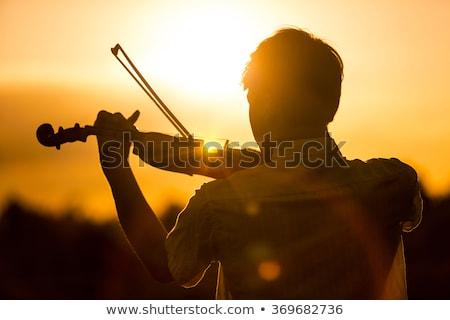 homme · jouer · violon · asian · musicien · permanent - photo stock © adrenalina