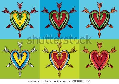 kształt · serca · projektu · węża · sylwetki · streszczenie - zdjęcia stock © Zuzuan