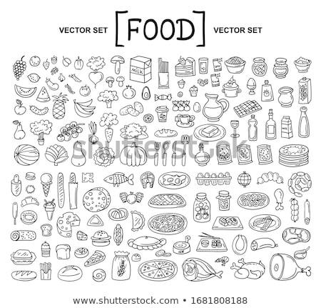 étel ital rajz vektor grafikus művészet Stock fotó © vector1st