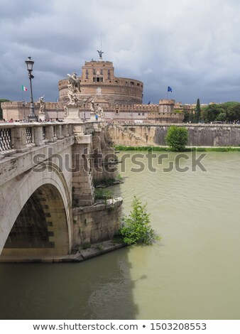 Castel Sant'Angelo, Rome, Italy. Tiber river and the Sant'Angelo bridge Stock photo © photocreo