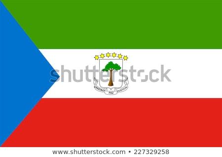 Bandeira Guiné Equatorial ilustração branco assinar vermelho Foto stock © Lom