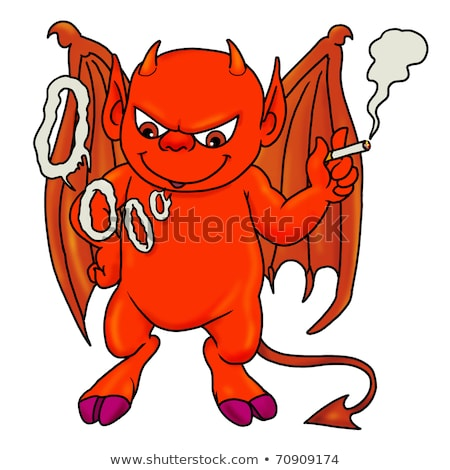 赤 鬼 少年 喫煙 たばこ 漫画 ストックフォト © Twinkieartcat